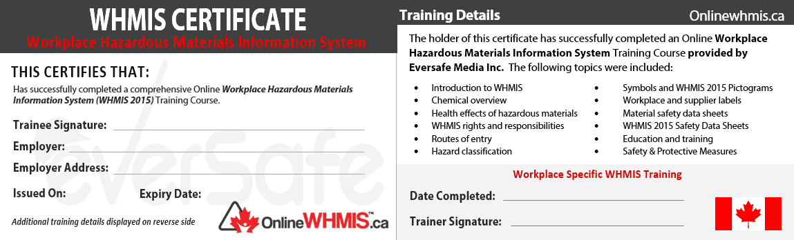 Online Whmis Certification Training Official Onlinewhmis
