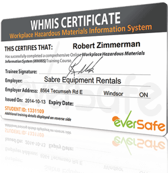 Whmis certificate wallet card template yadclub Images